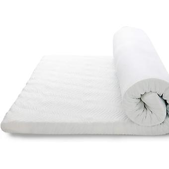DZK Memory Foam Mattress Topper Single Bed - Breathable Bed Mattress with Washable Zipped Cover,