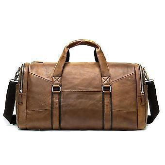 Sac de voyage pour hommes, sac de duffle en cuir authentique