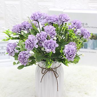 5個のエミュレーションフラワーシルクフラワープレマニュアルブライダルブーケ乾燥花偽の花