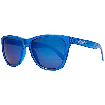 Ocean Sunglasses Sea, Polarized Sunglasses, Frame: Matt Brown, Lenses: Mirrored Blue, 40002.21