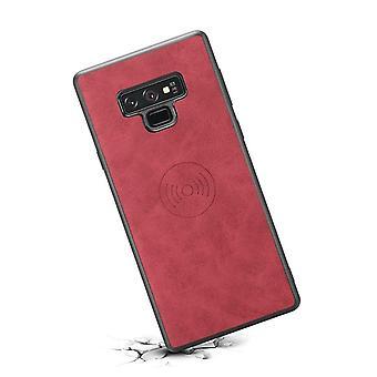 Ranura para tarjeta de funda de cuero de cartera para iphonex / xs retro rojo no2614