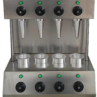 Moldes máquina de cono de pizza comercial, fabricante de panadería