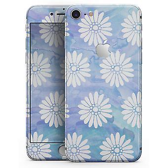 blått og hvitt akvarell blomst print mønster - skin-kit for
