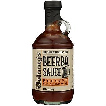 Johnnys Fine Foods Sauce Beer Bbq Cooking, Sprawa 6 X 12 Oz