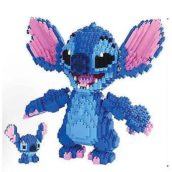 Stitch Rakennuspalikat Palapeli Micro 3d Hahmot Koulutus Tiili Lelut Sininen