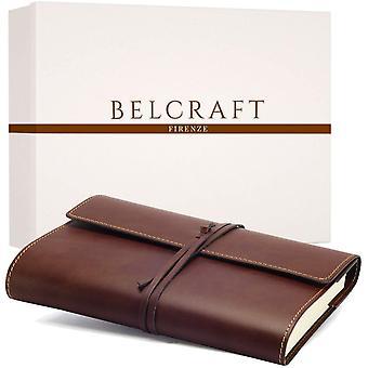 FengChun Vietri Classico A5 mittelgroßes Notizbuch aus recyceltem Leder, Handgearbeitet in