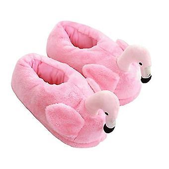 Flamingo pantoffels One Size Maat 36 – 41 – Licht Roze – Antislip