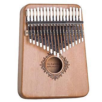 17 Key kalimba thumb piano mahogany wooden mbira musical instrumentos africa musicales instruments calimba machine for christmas