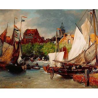 Vismarkt Oostende,Andreas Achenbach