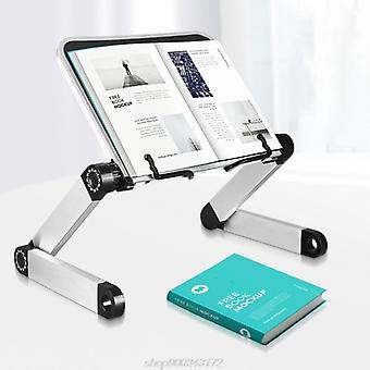 Vikbar läsbokhållare bokhylla stativ för kokbok 360 grader justerbar support skrivbord