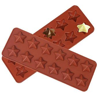 12 Cells Star Chocolate Silicone Mould Candy Cake Wax Melt Resin Ice Baking Mold
