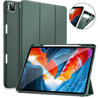 ESR SmartCase Hoes iPad Pro 12.9 inch (2021) - Zachte Binnenkant Pencilhouder - Groen