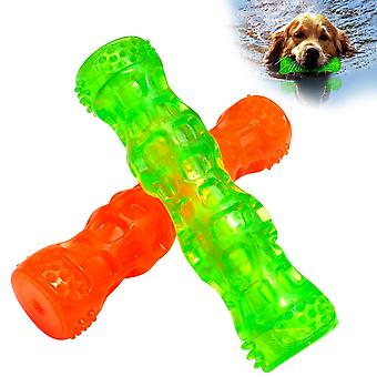 Rubber Dog Toy Bone Waterproof Squeak Pet Toy Bite Force Training Teeth Cleaning Interactive Pet Dog Chew Toy