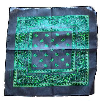 Svart och grön Paisley Bandana
