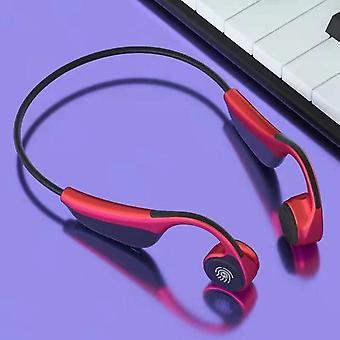 Wireless Earphone Bone Bluetooth 5.0 Headphones Sports Stereo Long Standby Waterproof Headsets(red)