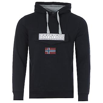 Napapijri Burgee Organic Cotton Blend Hooded Sweatshirt - Black