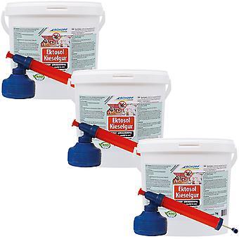 Sparset: 3 × SCHOPF النظافة® Ectosol® الأرض دياتوماكسي، 1 كجم + مسحوق أتوميزر