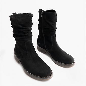 غابور مايا السيدات جلد الغزال أحذية الكاحل الأسود
