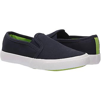 Essentials Chłopięce sneakersy wsuwane na płótnie