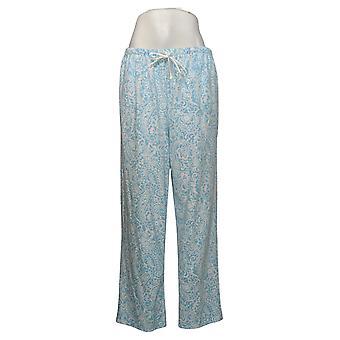Aria Damen Neuheit Bedruckt Fleece Pyjama Hose Blau 631033
