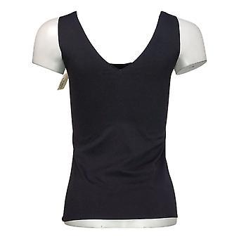 Rhonda Shear Women's Top S V Back Body Tank Bust Cover Rembourré Noir 673236