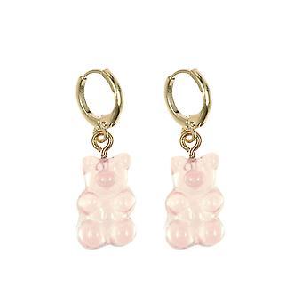 Gemshine Ohrringe 925 Silber vergoldet Gummibärchen in rosa - Made in Spain