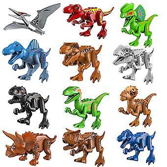 12pcs Jurassic Dinosaurier Spielzeug kleine Bausteine für Jungen