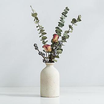 Keramiska vaser Enkel frostad keramisk dekoration Retro pastoral vas typ F
