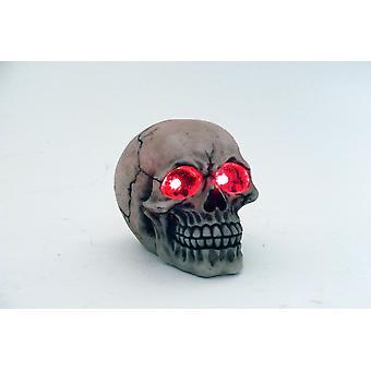 Idée Crâne décoratif 12cm LED Ornement Figurines cadeau