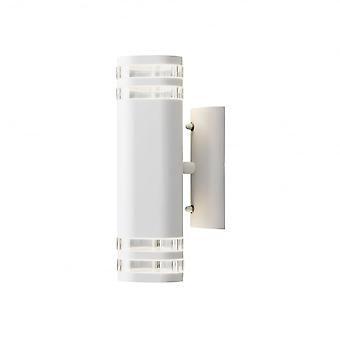 Konstsmide Modena Exterior Up Down GU10 Wall Light White