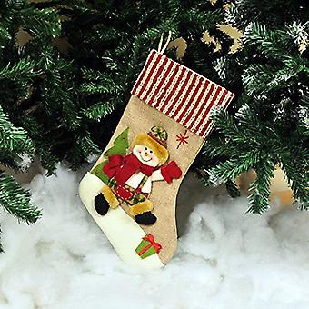 Kingfisher HSTOCK Hessian Stocking Santa Or Snowman