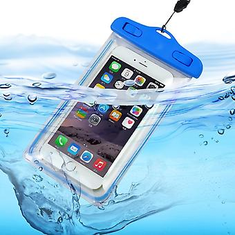 (Baby Blue) Waterproof Mobile Phone Bag For Samsung Galaxy J6