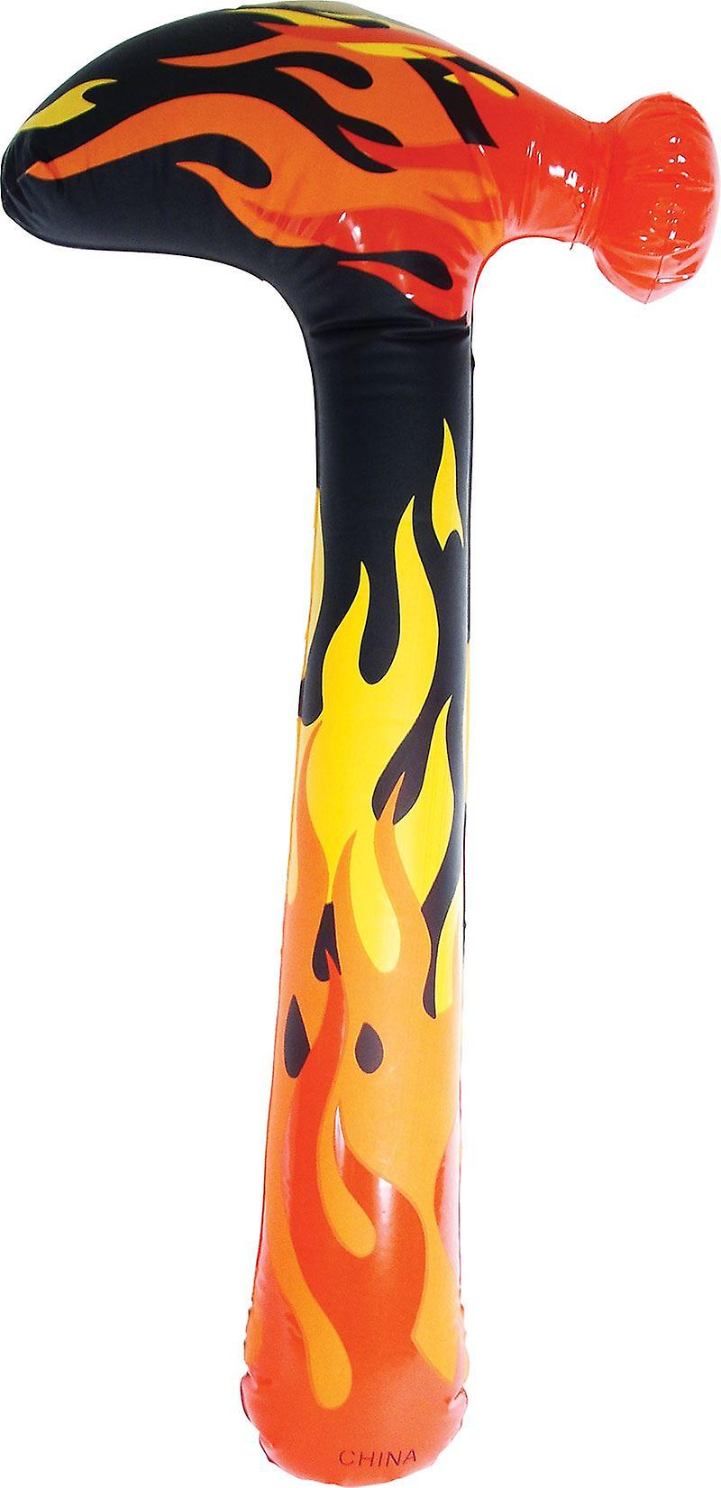 12 Inflatable Flaming Hammers 60cm