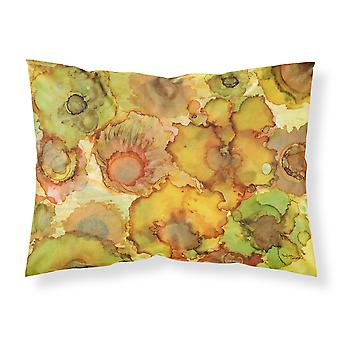 Abstract Flowers in Yellows and Oranges Fabric Standard Pillowcase