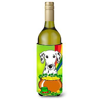Bebida de garrafa de vinho de dia dálmata St. Patrick s isolador Hugger