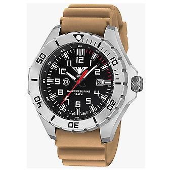 KHS orologi mens orologio acciaio KHS paese leader. LANS. DT
