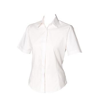 Henbury Womens Short Sleeve Oxford Formal Work Shirt