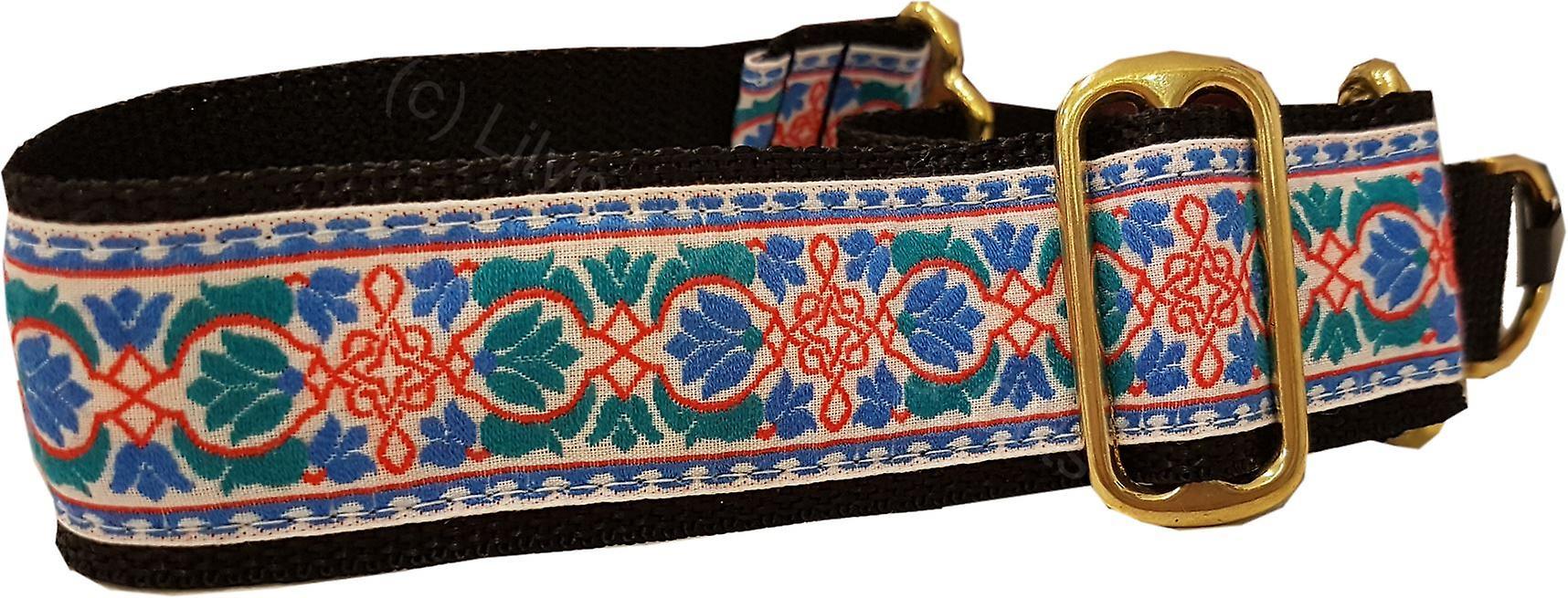 Dogcrafts 40-25mm Drop Martingale Dog Collar Red Blue Teal
