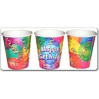 Brillant anniversaire tasses Party Pack de 8