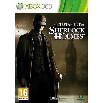 Det testamente af Sherlock Holmes (Xbox 360)-ny
