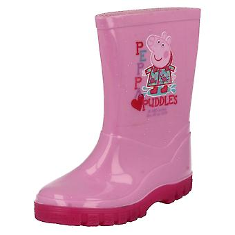 Girls Peppa Pig Wellington Boots Peppa Puddles