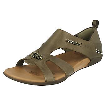 Ladies Merrell åpne Toe sandaler Flaxen