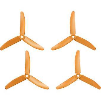 HQ Prop 3-blade Race copter propeller set Standaard 5 x 4 inch (12,7 x 10,2 cm) TP5X4X3O&TP5X4X3RO