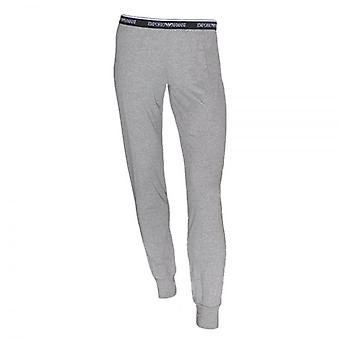 Emporio Armani Women Visibility Stretch Lounge Pant With Cuffs, Grey, Large