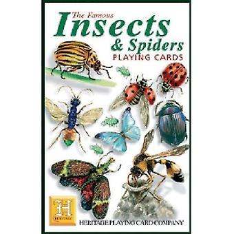 Hyönteiset & hämähäkkejä joukko 52 kortin pakalla (+ Jokerit)
