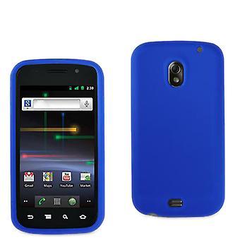 Hard Rubberized Anti-Slip Grip Snap On Case/Cover pour Samsung Galaxy Nexus i9250 (Navy Blue)