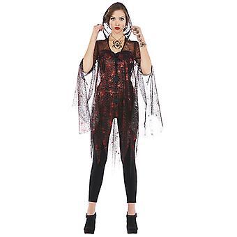 Spinnenjacke Kostüm Spinnendesign mit Tüll für Damen
