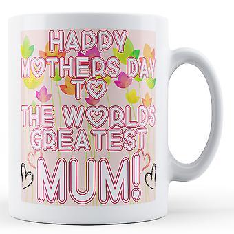 Glücklich Muttertag Mama gedruckt Mug