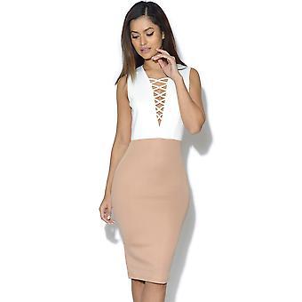 AX Parijs Lace Up Front Bodycon jurk
