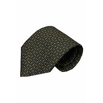Zwarte zijden stropdas Cattolica 01